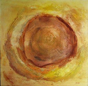 Diepte (50x50cm, marmermeel met pigmenten, 2016)