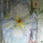 Flower (80x80cm, marmermeel met pigmenten, 2016)