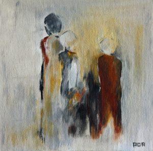 Mensen (25x25cm, acryl, 2009)