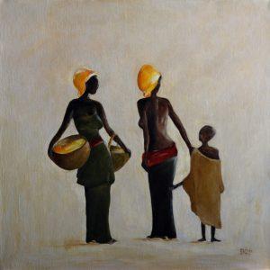 Afrika 1 (40x40cm, acryl 3d, 2010)