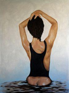 Vrouw (60x80cm, acryl, 2010)