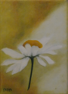 Margrietje (13x18cm, olie, 2015)