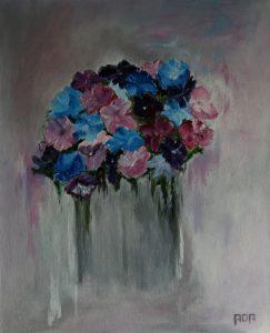Bos bloemen (40x50cm, acryl, 2010)