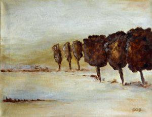 Bomen (40x30cm, acryl, 2008)