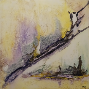 Beleving (50x50cm, marmermeel met pigmenten, 2016)