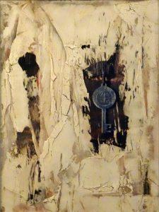 Openen en sluiten (30x40cm, marmermeel met pigmenten, 2015)