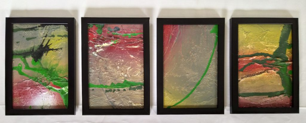 Zonder Titel, 10x15cm, acryl mixed media, 2019