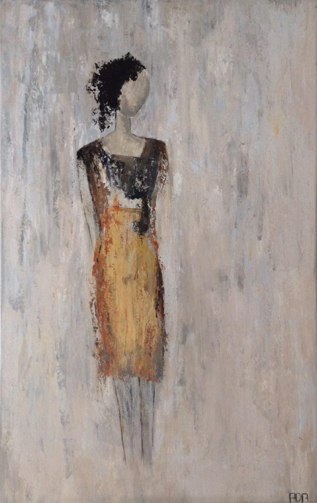 Woman V (50x80cm3D acryl met paletmes)